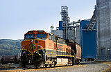 Photo of a train at the EGT facility in Longview, WA.